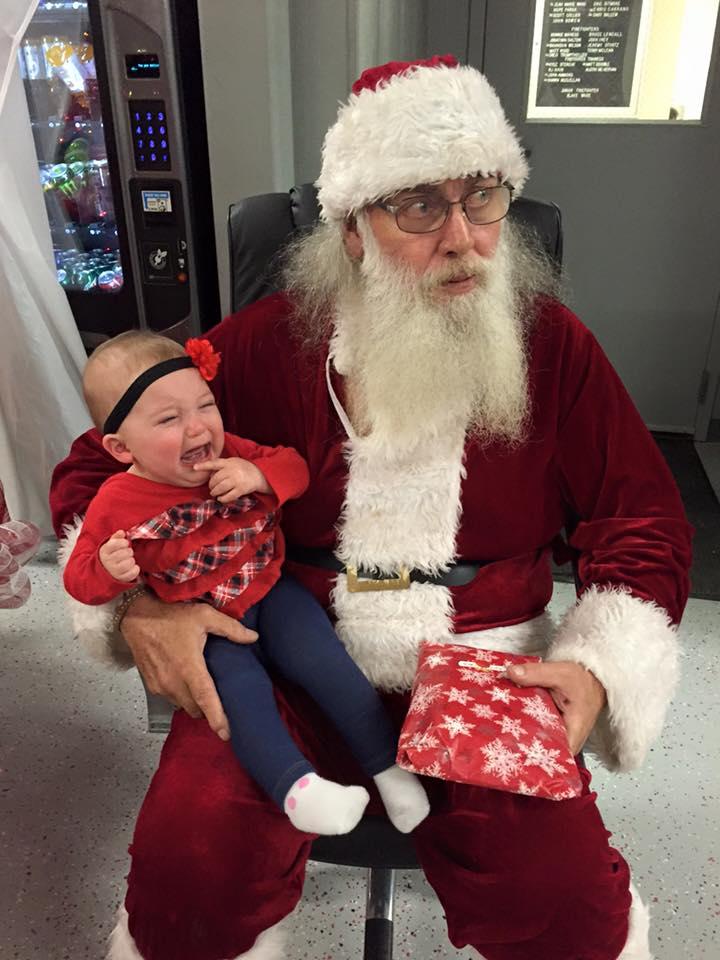 Abigail 1st Santa Visit